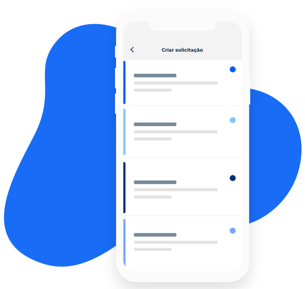 Canais de atendimento forenecidos pelo app